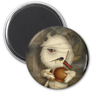 Traje divertido de Halloween de la momia Imán Redondo 5 Cm