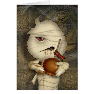 Traje divertido de Halloween de la momia Tarjeton