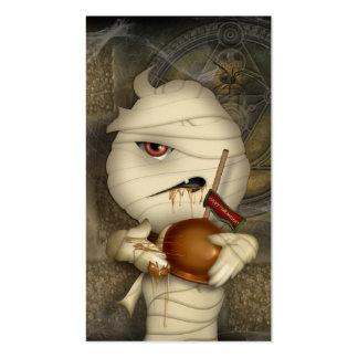 Traje divertido de Halloween de la momia Tarjeta Personal