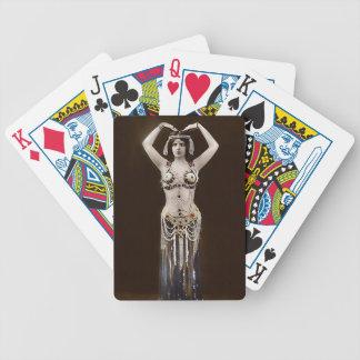 Traje egipcio escaso barajas de cartas