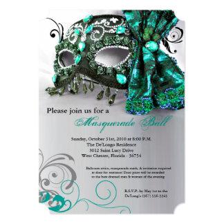 Traje Halloween de la bola de la máscara de la Invitación 12,7 X 17,8 Cm
