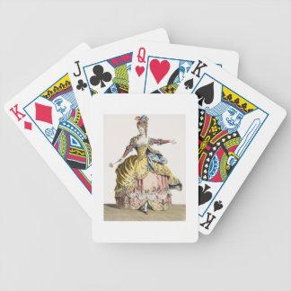 Traje para la reina de los silfos en el ballet baraja de cartas bicycle