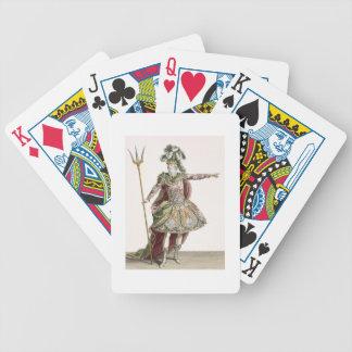 Traje para Neptuno en varias óperas, grabado cerca Baraja Cartas De Poker