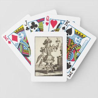 Traje para un distribuidor autorizado de la pluma, baraja cartas de poker