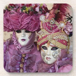 Traje púrpura del carnaval, Venecia Posavasos