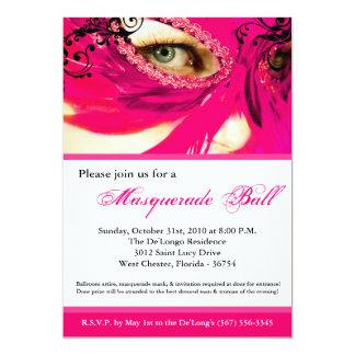 Traje rosado Halloween de la bola de la máscara de Invitación 12,7 X 17,8 Cm