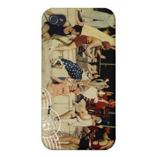 Trajes de baño del vintage iPhone 4/4S carcasa