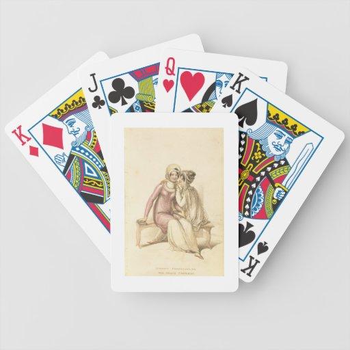 """Trajes de la tarde, de la """"promenade"""" o de la play baraja de cartas"""