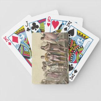 Trajes de los mexicanos (grabado del color) baraja cartas de poker