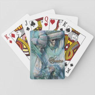 Trajes de los pares del vestido de lujo baraja de cartas
