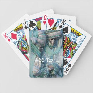 Trajes de los pares del vestido de lujo cartas de juego
