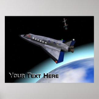 Transbordador espacial de El Al Póster