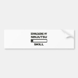 Transferencia de mi habilidad de Ninjutsu Pegatina Para Coche