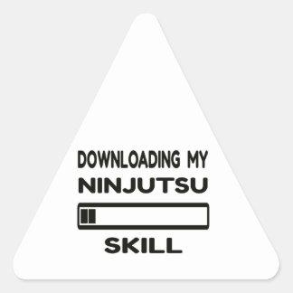 Transferencia de mi habilidad de Ninjutsu Pegatina Triangular