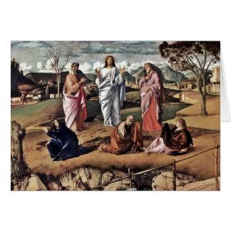 Transfiguración de Cristo 1487 Tarjeta De Felicitación