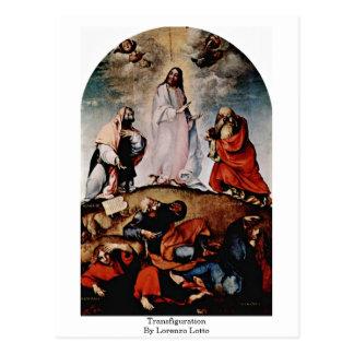 Transfiguración de Lorenzo Lotto Postal