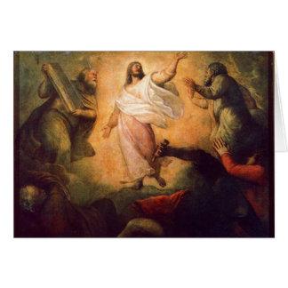 Transfiguración de nuestro señor Jesús Tarjeta