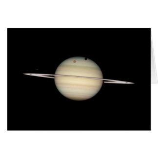 Tránsito cuádruple de la luna de Saturn Tarjeta