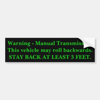 Transmisión manual pegatina para coche