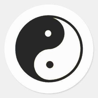 Transp de Yin Yang los regalos de Zazzle del MUSEO Pegatina Redonda