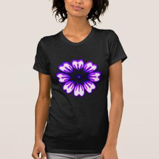 Transp púrpura azul de la margarita los regalos de camiseta