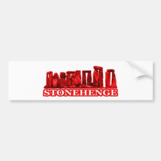 Transp rojo de Stonehenge los regalos de Zazzle de Pegatina Para Coche