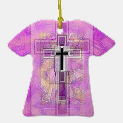 Transparencia religiosa ornamentos de navidad