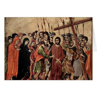 Transporte de la cruz tarjeta