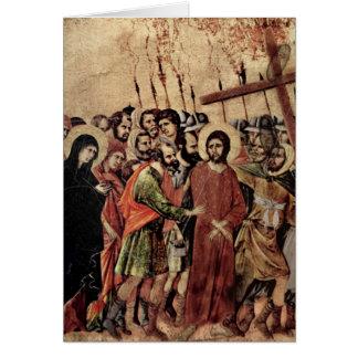 Transporte de la cruz tarjeta de felicitación