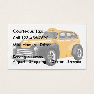 Transporte del taxi tarjeta de visita