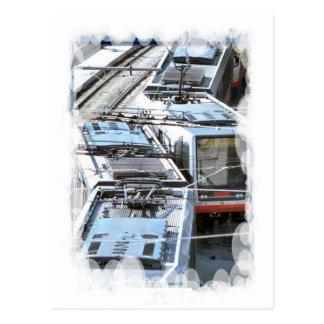 Transporte del vintage - tejado de la tranvía postales