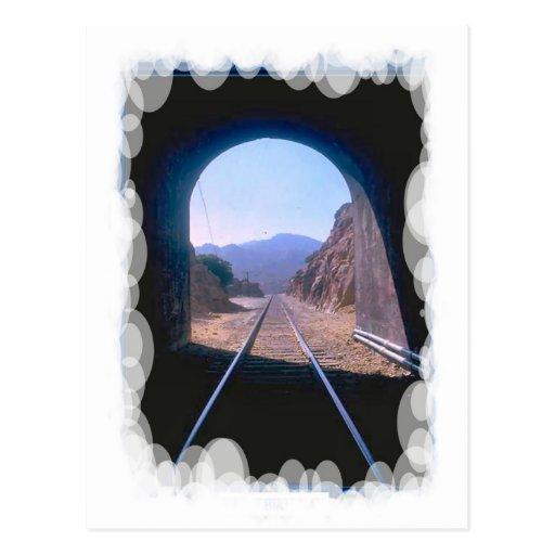 Transporte del vintage - visión de túnel tarjeta postal