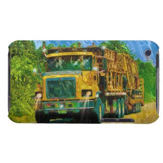 Transporte pesado del camión amarillo del andamio  barely there iPod protectores