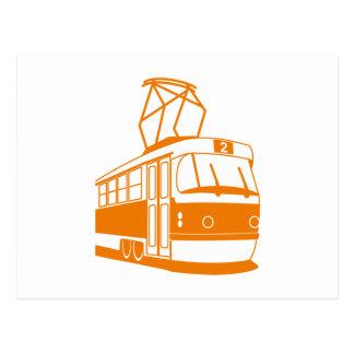 Tranvía anaranjada postal