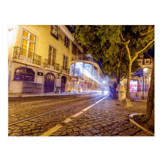 Tranvía de la noche de Lisboa Postal