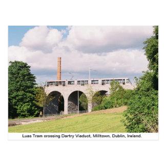 Tranvía de Luas, viaducto de Dartry, Milltown Dubl Postales