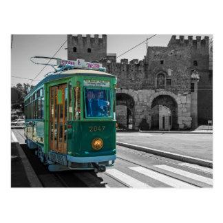 Tranvía del veterano en Roma Italia Tarjeta Postal