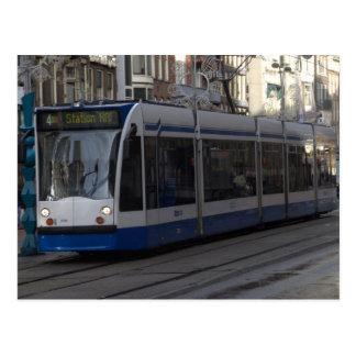Tranvía en Amsterdam Postal