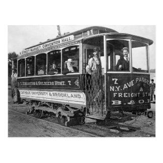 Tranvía en C.C. de Washington, 1890 Postal