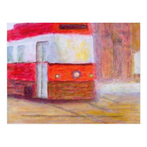 Tranvía, postal