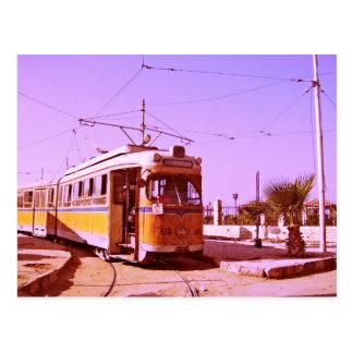 tranvía tarjeta postal