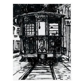 Tranvía viejo del canal de New Orleans Tarjetas Postales