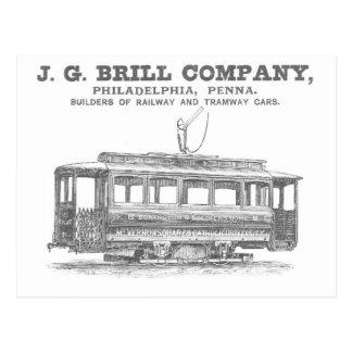 Tranvías de Brill Company y coches 1860 del tranví Tarjeta Postal
