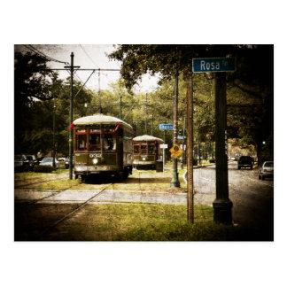 Tranvías de la impulsión del parque de Rosa Postales
