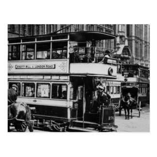 Tranvías en Manchester c 1900 Tarjetas Postales