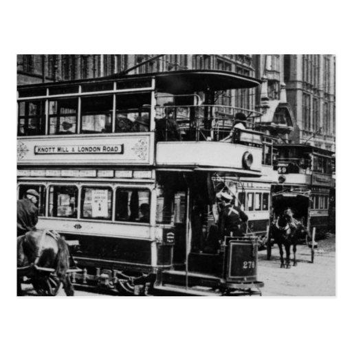 Tranvías en Manchester, c.1900 Tarjetas Postales