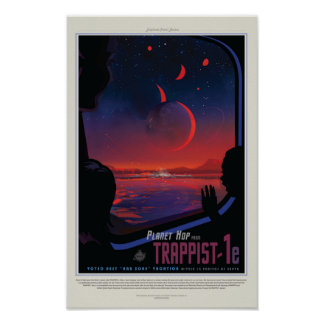 TRAPPIST-1e Exoplanet Póster