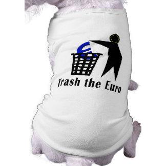 Trash el euro camiseta sin mangas para perro