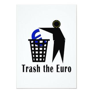 Trash el euro invitación 12,7 x 17,8 cm