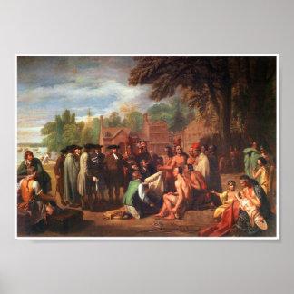 Tratado 1771 de Penn con el poster del arte de los